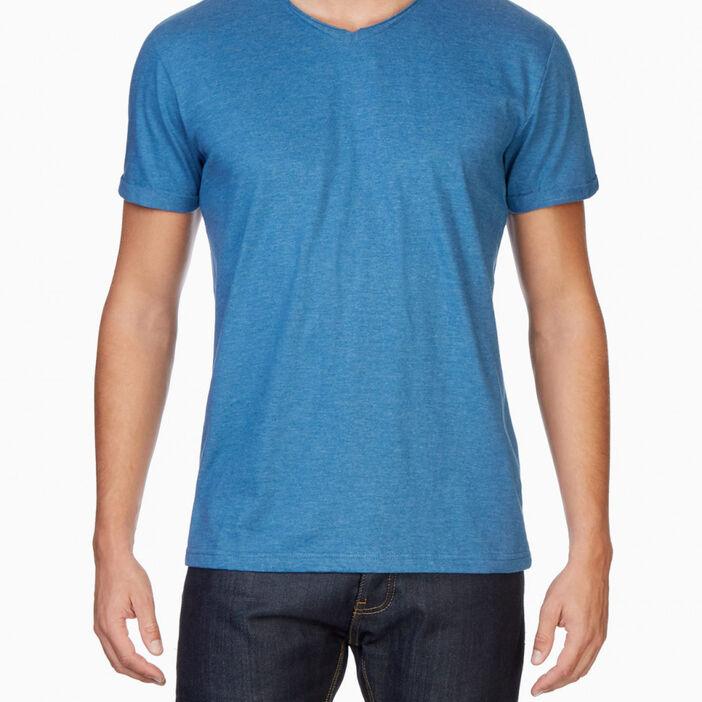 T-shirt manches courtes col rond homme bleu