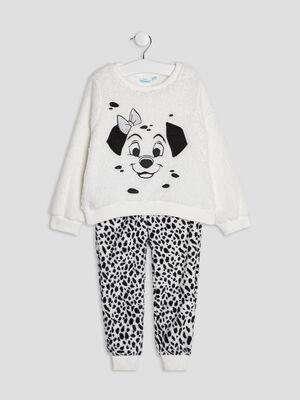 Ensemble pyjama 101 Dalmatiens noir fille
