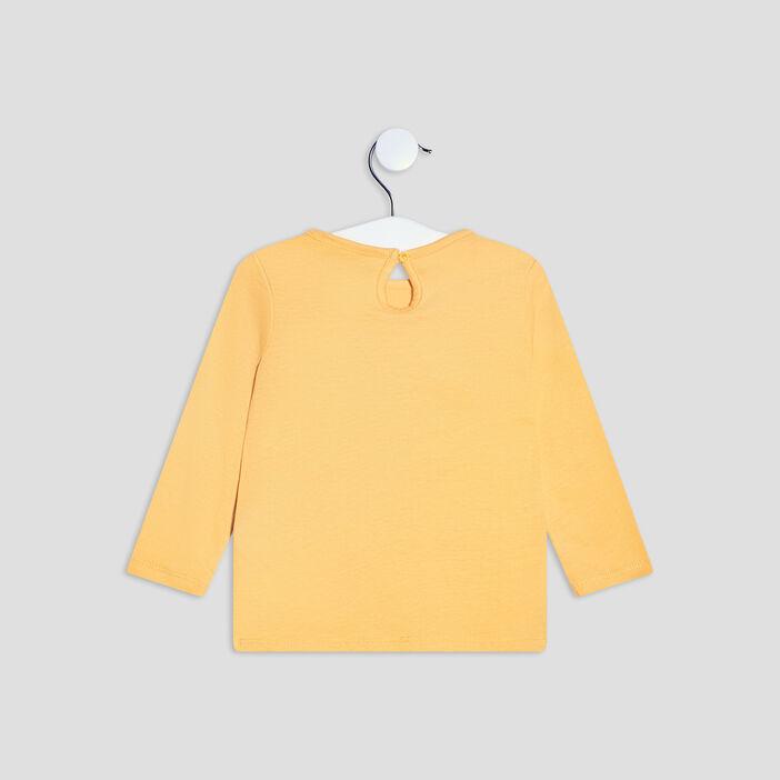 T-shirt manches longues Creeks bébé fille jaune moutarde