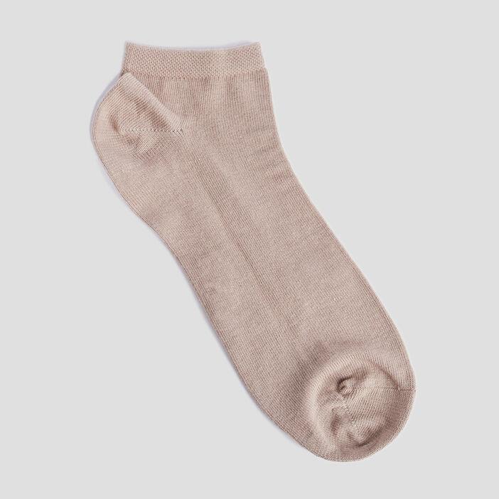 Lot 4 paires de socquettes femme beige