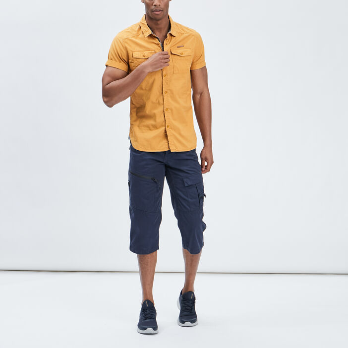 Chemise Trappeur homme jaune moutarde