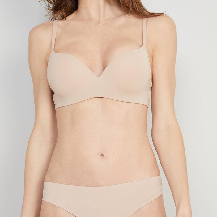 Soutien-gorge ampliforme bretelles  femme beige