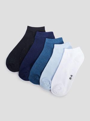 Socquettes bleu femme