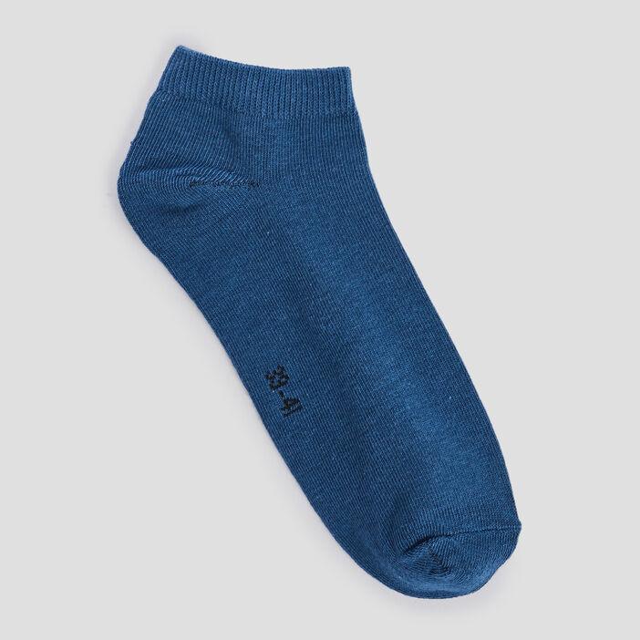 Socquettes femme bleu
