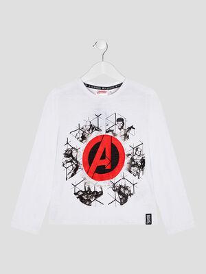 T shirt Avengers blanc garcon