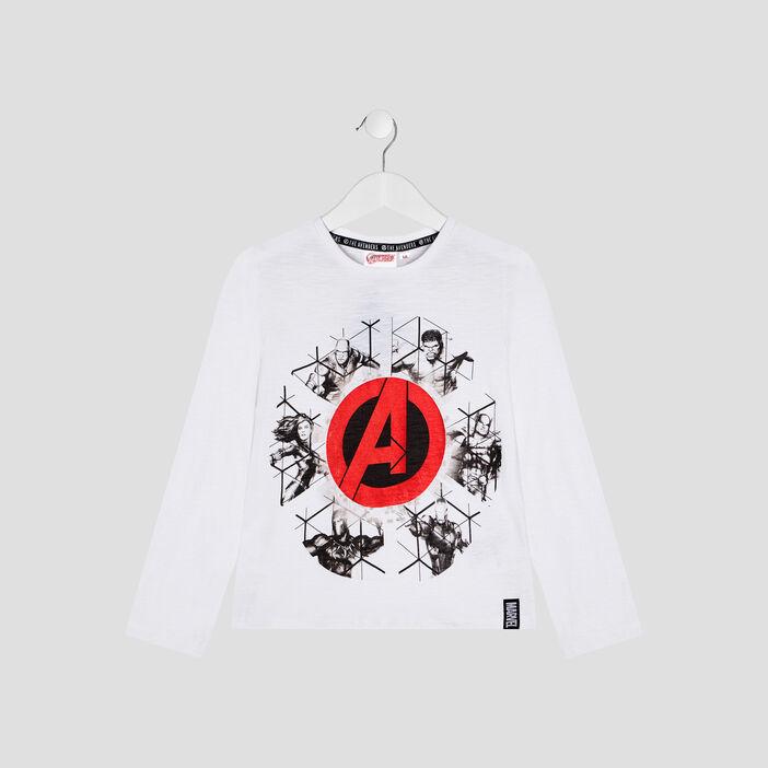 T-shirt Avengers garçon blanc