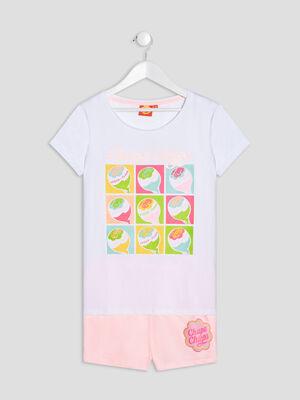 Ensemble pyjama Chupa Chups blanc fille