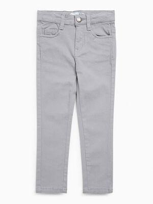 jean droit 5 poches gris clair garcon