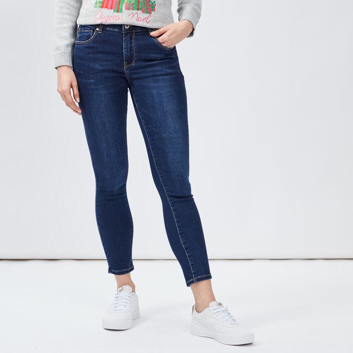 Jeans slim 7/8ème Creeks femme denim brut