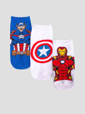Lot 3 chaussettes Avengers multicolore