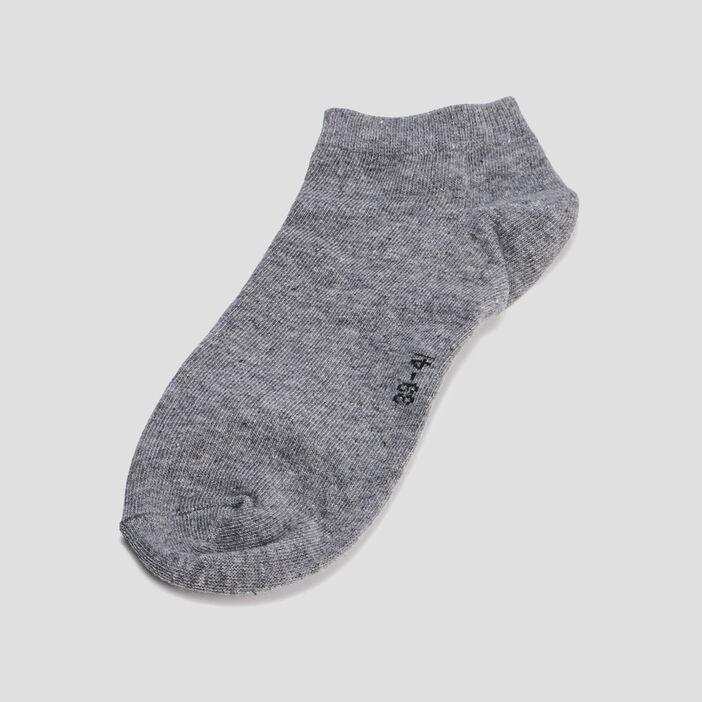Lot 5 paires socquettes femme gris