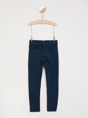 Pantalon confort coupe slim bleu garcon