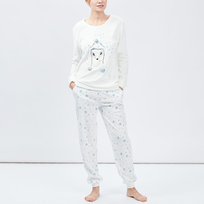 Ensemble de pyjama femme ecru