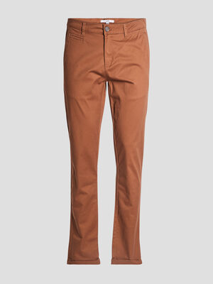 Pantalon straight marron clair homme