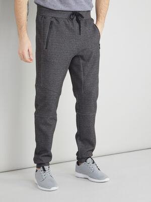 Jogging en maille gris fonce homme