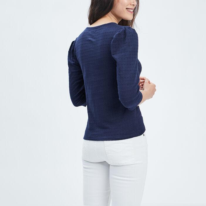 T-shirt manches 3/4 Creeks femme bleu marine