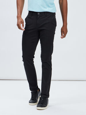 Pantalon regular noir homme