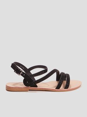 Sandales avec strass Liberto noir fille