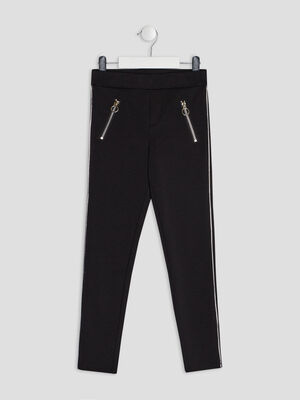 Pantalon legging noir fille