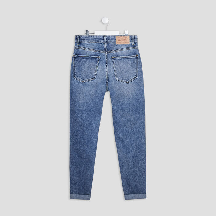 Jeans mom fille denim double stone