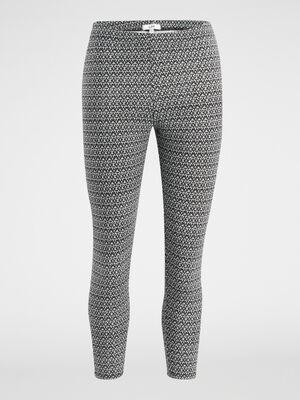 Legging court imprime gris femme