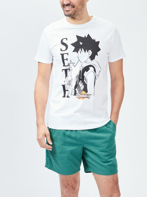 T shirt Radiant blanc homme