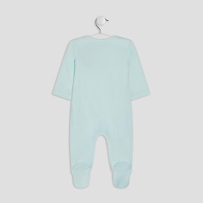 Dors-bien manches longues bébé fille bleu turquoise