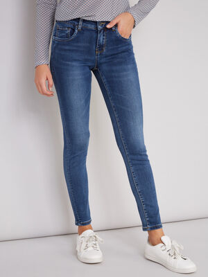 Jean skinny 78 taille basse denim double stone femm