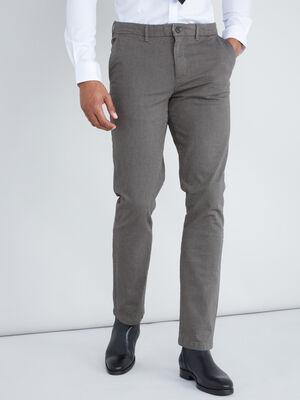 Pantalon uni coupe slim gris fonce homme