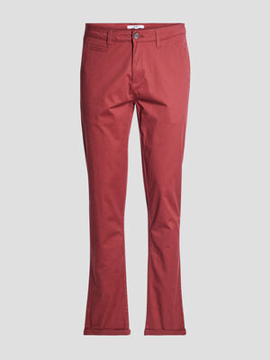 Pantalon straight rouge homme