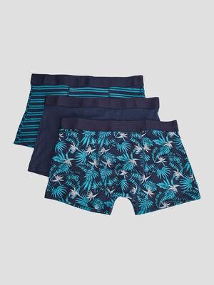 Lot 3 boxers bleu homme