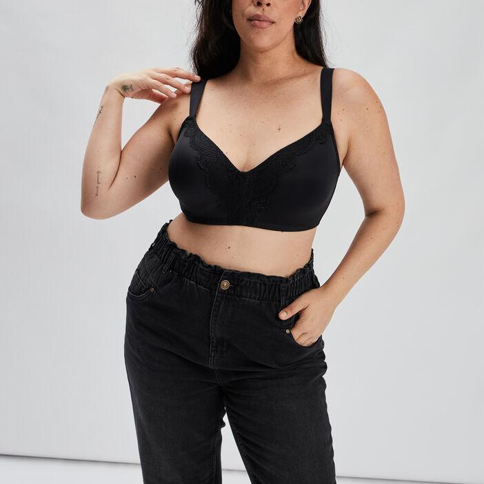 Soutien-gorge ampliforme femme grande taille noir