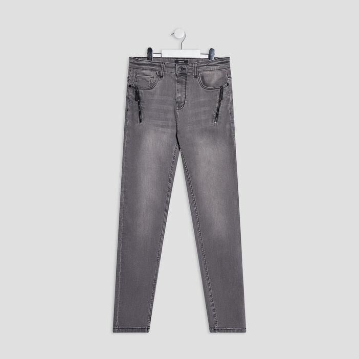 Jeans slim stretch Liberto garçon gris