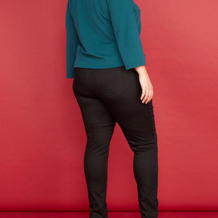 Jegging uni grande taille femme noir