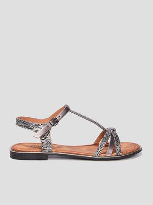 Sandales plates Mosquitos noir femme
