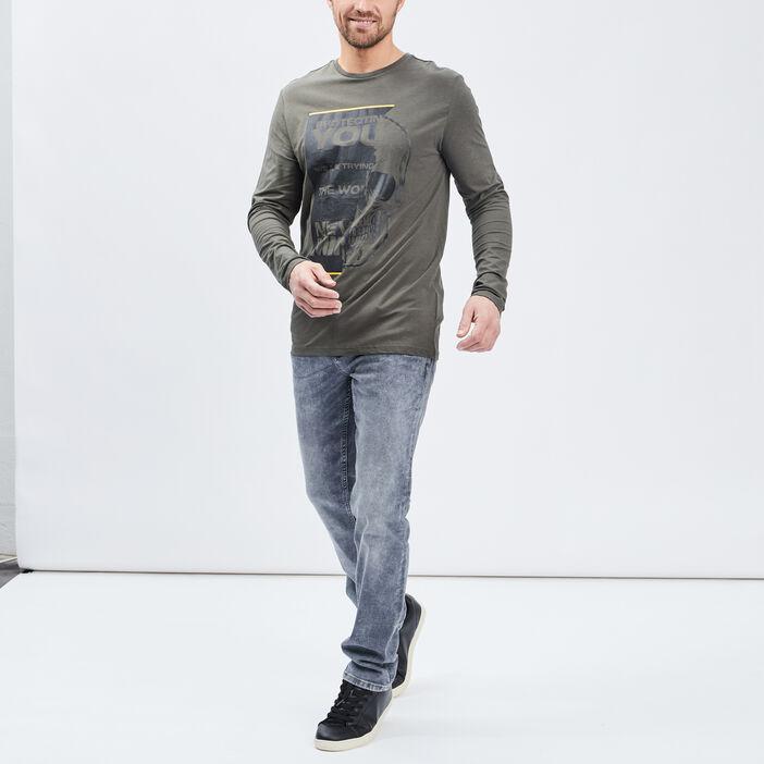 T-shirt Liberto homme vert kaki