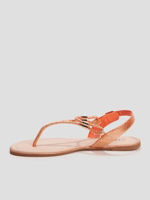 Sandales plates Liberto orange femme