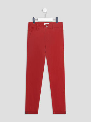 Pantalon chino orange fonce garcon