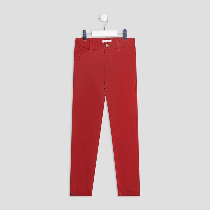 Pantalon chino garçon orange foncé