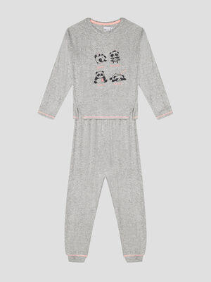 Ensemble pyjama gris fille