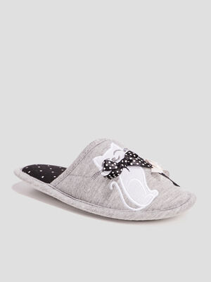 Chaussons mules gris fille
