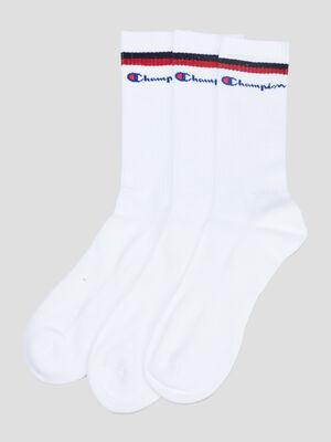 Lot 3 chaussettes Champion blanc homme