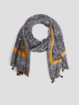 Foulard a pampilles multicolore