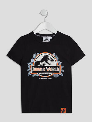 T shirt Jurassic World noir garcon