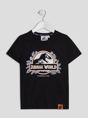 T shirt Jurassic World noir garcon