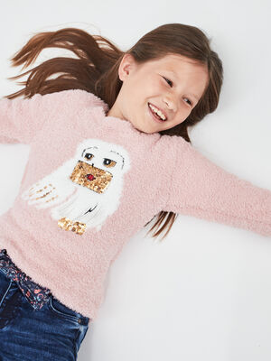 Pull Harry Potter rose poudree fille
