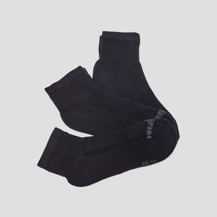 Lot 3 paires socquettes femme noir