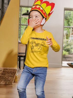 T shirt manches longues jaune moutarde garcon