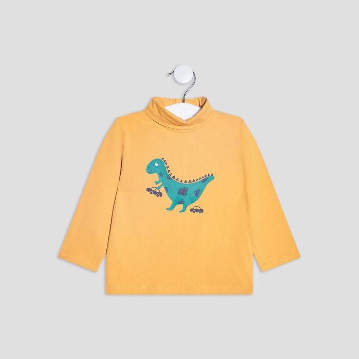 T-shirt Pat et Ripaton bébé garçon jaune moutarde