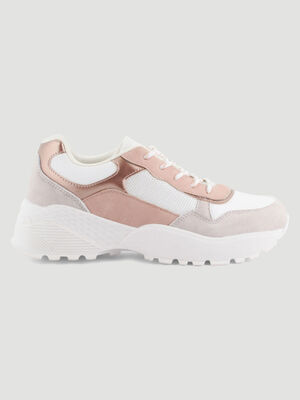 Papa shoes multi textures ecru femme